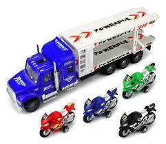 100 Semi Truck Toy Buy Moto Transport Trailer Childrens Friction