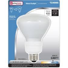 shop utilitech 15 watt 65w br30 medium base daylight 5000k cfl