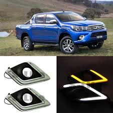 TOYOTA Hilux Revo Vigo LED Daytime Running Lights DRL Yellow Turn ... 5pcs Amber Led Cab Roof Top Marker Running Lights For Truck Black Led Lighting Fancy Driving Trucks 2016 Gmc Sierra Shows Off Its New Face Aoevolution Dodge Ram 3500 Vw Atlas Tanoak Pickup Teases Honda Ridgeline Rival Slashgear Drl Daytime Light Toyota Hilux 52018 Fog Lamp Itimo 60 6 In 1 Reversing Brake 4 Pin Cnection Tailgate Bar Recon 264227amclx Extra Air Dam Automotive Household Trailer Rv Bulbs Parts Accsories Caridcom Ford F350 Super Duty Questions Need To Locate The Fuse That How Wire Dual Function Running Lights Into Your 2015 Style