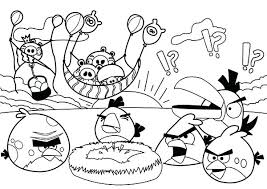 Full Image For Angry Birds Free Coloring Pages Pigs Steal Eggs In Bird