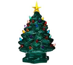 Ceramic Christmas Tree Bulbs And Stars by Mr Christmas Lit Battery Op 10