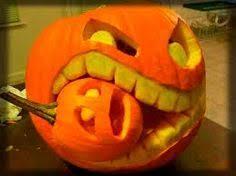 Mike Wazowski Jack O Lantern Pattern by Fun Pumpkin Carving Tip Use The Stem As A Nose
