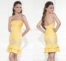 compare prices on yellow special occasion dresses online shopping