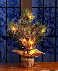 Tabletop Trees With Lights Tree A Pine Cones Light Table Top Christmas