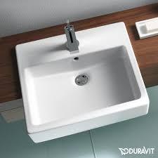 duravit vero semi recessed washbasin white with 1 tap hole