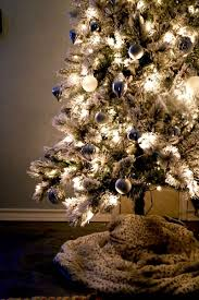 Flocked Artificial Pre Lit Christmas Trees by Decking The Halls Love U0026 Renovations