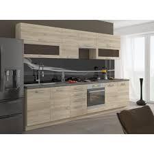caisson cuisine chene lassen cuisine complète l 2m60 décor chêne clair sonoma achat