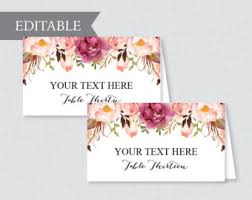 Printable Wedding Place Cards