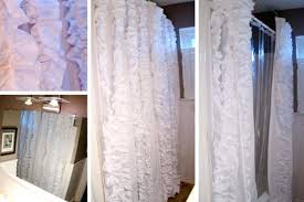 White Lace Curtains Target by Image Of Shower Curtain Target Awesome White Ruffle Shower Curtain