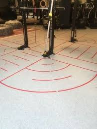 DalZone Sports Floor From Dalhaus With Markings Tough Impact Absorbing Resilient Rubber Flooring