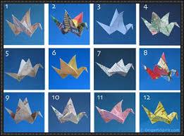 12 Types Origami Birds