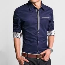 Fashion Shirt Men S Slim Fake Jeans Denim