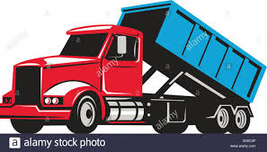 100 Roll Off Truck Illustration Of A Rolloff Truck With Container Bin On Back Viewed