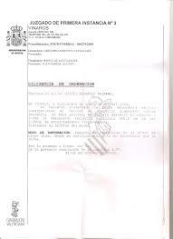 Carta Sin Cestificar Del Juzgado De Vinaroz Blog Ongdirecta
