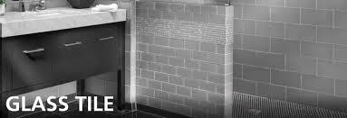 glass tile floor decor