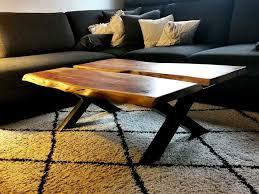 massivholz couchtisch akazie holztisch wohnzimmer tisch