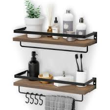 details zu wandregal metall holz hängeregal küchenregal blumenregal deko regal 3 ablagen de
