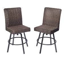 Allen + Roth Maverly High Bistro Patio Swivel Chair (Set Of 2 ... Pub Tables Bistro Sets Table Asuntpublicos Tall Patio Chairs Swivel Strathmere Allure Bar Height Set Balcony Fniture Chair For Sale Outdoor Garden Mainstays Wentworth 3 Piece High Seats Www Alcott Hill Zaina With Cushions Reviews Wayfair Shop Berry Pointe Black Alinum And Fabric Free Home Depot Clearance Sand 4 Seasons Valentine Back At John Belden Park 3pc Walmartcom