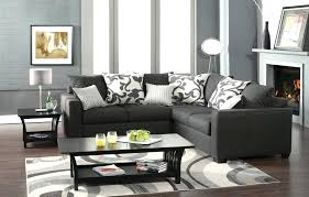 chic grey sectional living room medium size of room sectionals