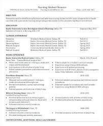 Nursing Resume Templates Students Bsc Format Free Download