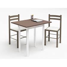 table cuisine pas cher table de cuisine plateau melamine pieds metal 2 chaises en hetre