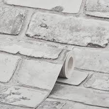 Debona Rustic Brick White Wallpaper