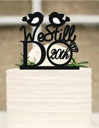 Wedding Cake Topper We Still Do Love Birds 20th Vow Renewal Or Anniversary Rustic Free Base