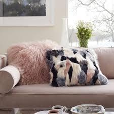 Mongolian Lamb Cushion Cover Rosette 61 cm