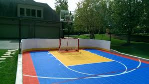 Amazing Design Sport Court Cost Exciting Backyard Basketball Court ... Multisport Backyard Court System Synlawn Photo Gallery Basketball Surfaces Las Vegas Nv Bench At Base Of Court Outside Transformation In The Name Sketball How To Make A Diy Triyaecom Asphalt In Various Design Home Southern California Dimeions Design And Ideas House Bar And Grill College Park Half With Hill