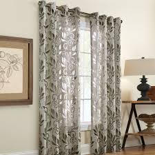 Jc Penney Curtains With Grommets by Amelia Linen Burnout Grommet Curtain Panels