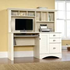 Desk 24 Sauder Harbor View With Hutch Antique White Modern For