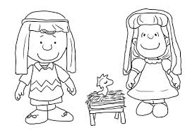 Click To See Printable Version Of Charlie Brown Christmas Nativity Coloring Page