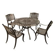 Rose Ornate 5-Piece Bronze Aluminum Round Outdoor Dining Set With 4 ... Paris 80 Cm Round Ding Table 4 Chairs In White Whitegrey Bellevue Pub D8044519 Cramco Counter Height Seater Oslo Chair Set Temple Webster Ding Table Chairs Easyhomeworld And Aamerica Port Townsend 5 Pc Oak Glass And With Fabric Seats Amazoncom Coavas 5pcs Brown Kitchen Rectangle Vfuhrerisch Black Wood Red Small Cheap Find 8 Solid Davenport Ivory Dav010