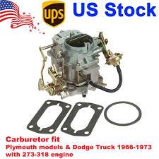 100 1973 Dodge Truck Carburetor CARTER 2BBL For Plymouth 273318 ENGINE 1966