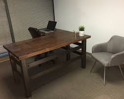 The Brooklyn Executive L Shape Desk Modern Industrial Office