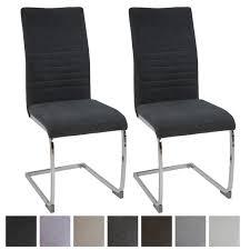 esszimmerstühle lugano 2er set grau stoff freischwinger