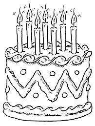 Birthday cake clipart black and white 7