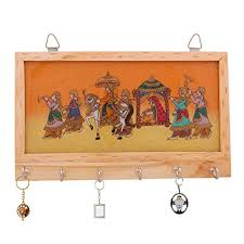 Decorative Key Holder For Wall by Rajkruti Handicraft Wooden Key Holder Hanger Wall Hanging