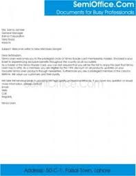 Wel e Letter For New Membership