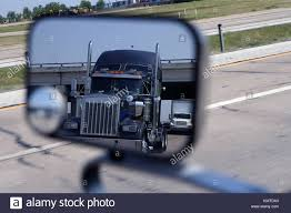 100 Big Blue Truck A Big Blue Truck In The Vehicle Mirror Stock Photo 167723755 Alamy
