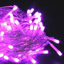 led a pile pour deco guirlande lumineuse à piles 40 leds violettes deco lumineuse