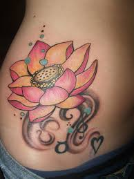 A Pink Lotus Flower Tattoo The Shadow Of Creatively Depicts Music And Love