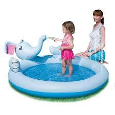 Inflatable Interactive Elephant Spray Kiddie Pool
