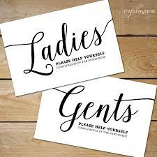 Printable Bathroom Signs Wedding Basket Sign
