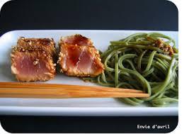cuisiner thon frais envie d avril thon laqué au sésame