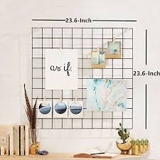 LARGE Grid Panel Wall Wire Mesh Retail Display Decor Photo Pack Of 2