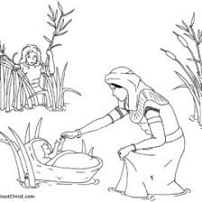 Free Bible Coloring Pages Baby Moses Archives