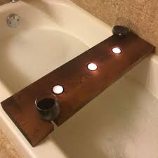 stunning bathtub caddy designs with wine glass holder trends4us com