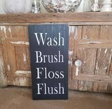 First Class Rustic Bathroom Signs U Rulesu Decor Powder Room Farmhouse Wood
