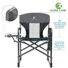 ALPHA CAMP Oversized Camping Director Chair Heavy Heavy Heavy Duty ... Porta Brace Directors Chair Without Seat Lc30no Bh Photo Tall Camping World Gl Folding Heavy Duty Alinum Heavy Duty Outdoor Folding Chairs 28 Images Lawn Earth Gecko Wtable Snowys Outdoors Natural Gear With Side Table Creative Home Fniture Ideas Glitzhome 33h Outdoor Portable Lca Director Chair Harbour Camping Heavyduty Chairs X2 Easygazebos Duratech Horse Tack Equipoint
